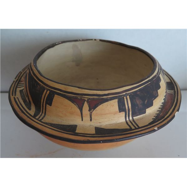 "Historic Hopi Pottery, Seed Jar, Brown/Beige/Black 8"" x 4"""