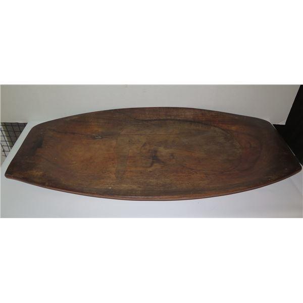 "Koa Wood Serving Platter, Signed Blair Hawaii 32"" x 17"""
