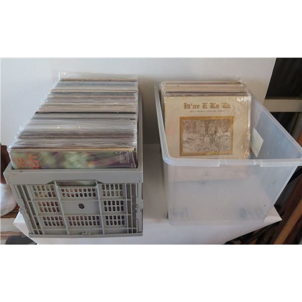 Qty 2 Crates of Vintage Vinyl Records - Misc Hawaiian Artists & Others