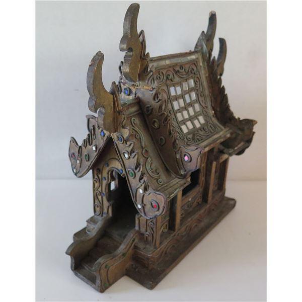 Asian Wooden Temple Replica, Small