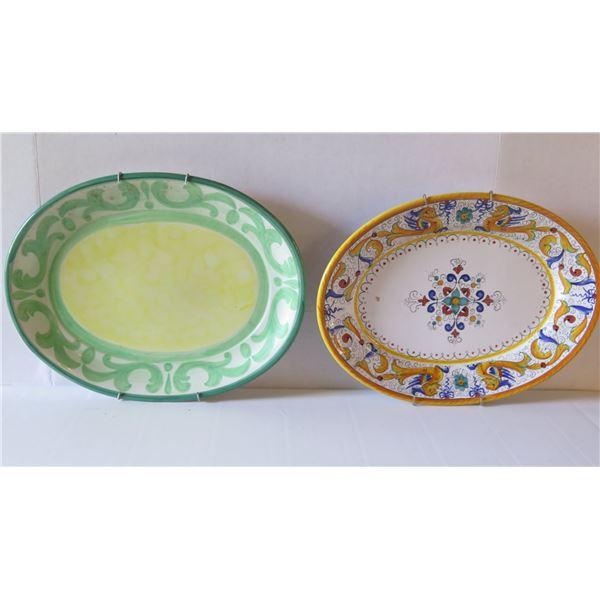 Qty 2 Serving Platters, Ceramic, Villeroy & Bach Gallo Design