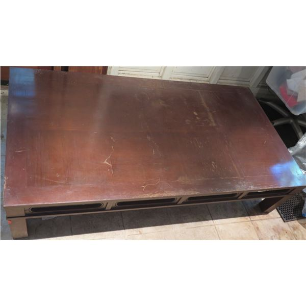 """Wooden Coffee Table 68"""" x 36"""" x 15"""" H"""