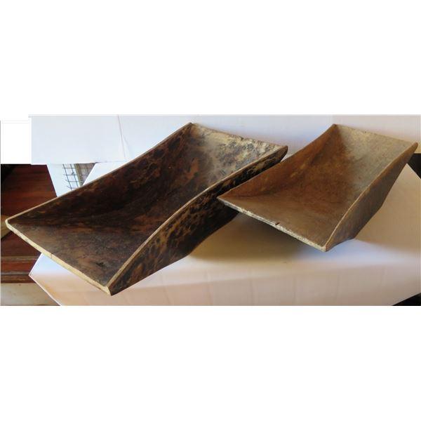 Qty 2 Wooden Serving Dish, Rectangular