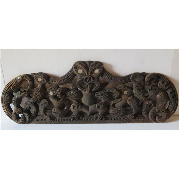 """Wooden Carved Plaque 26"""" x 10"""""""
