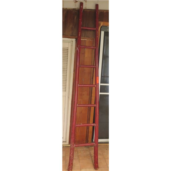 """Painted Bamboo Ladder, 93"""" Tall"""