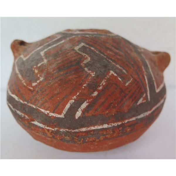 """Native American Indian Clay Seed Pot, 3.5"""" Tall"""