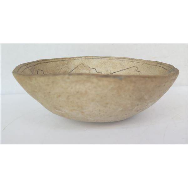 "Native American Indian Small Clay Dish, 7"" Dia"