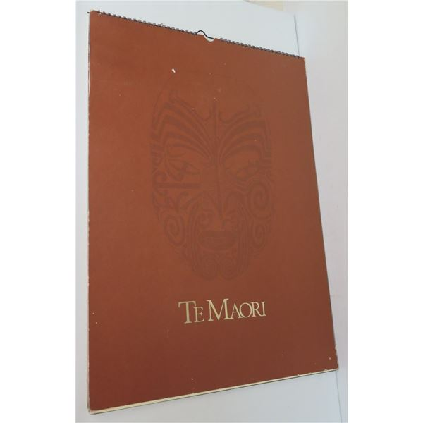 """Te Maori 1985 Calendar 16.5"""" x 23.5"""""""