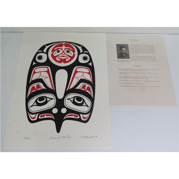 "Native American Art, Limited Edition ""Raven & The Sun"" Signed J Bradley Hunt 12"" x 16""(96/250)"