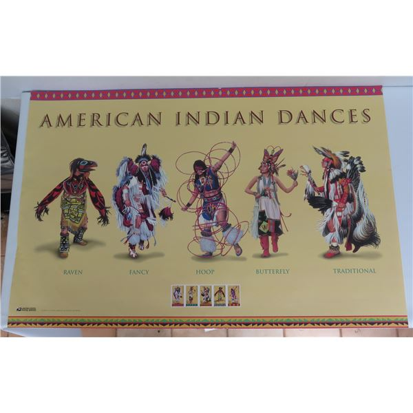 """American Indian Dance Poster 28"""" x 18"""""""