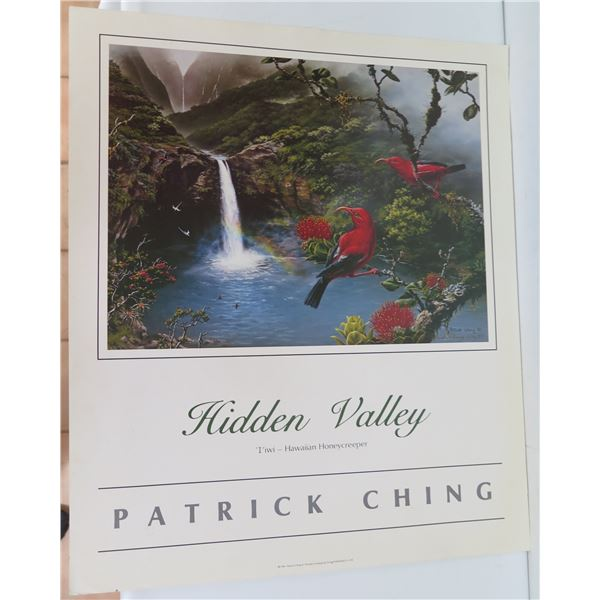 """Hidden Valley Poster, Signed Patrick Ching 11/4/87 20"""" x 24"""""""