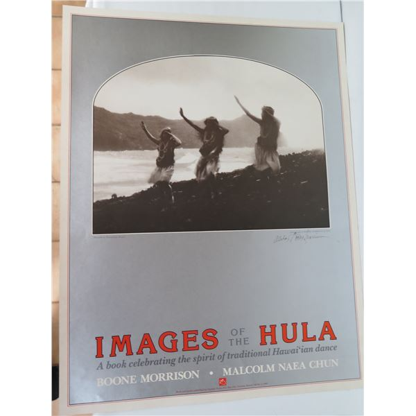 """Images of Hula Poster, Signed Boone Morrison 1983 20"""" x 26"""""""