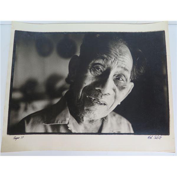 "Photograph, Asian Man Black/White Signed 20"" x 16"""