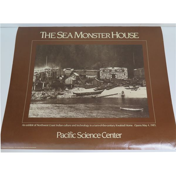 """Poster, """"The Sea Monster House"""" 5/4/85 21"""" x 17"""""""