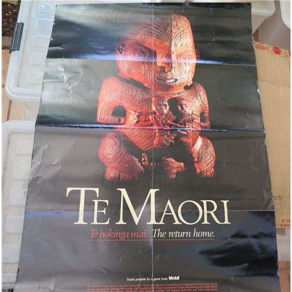 """Poster, """"Te Maori"""" 23.5"""" x 33.5"""""""