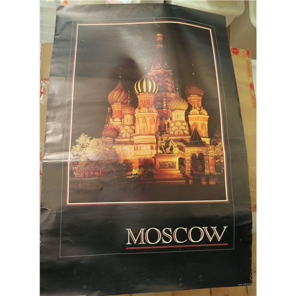 """Poster, """"Moscow"""" 23.5"""" x 36"""""""
