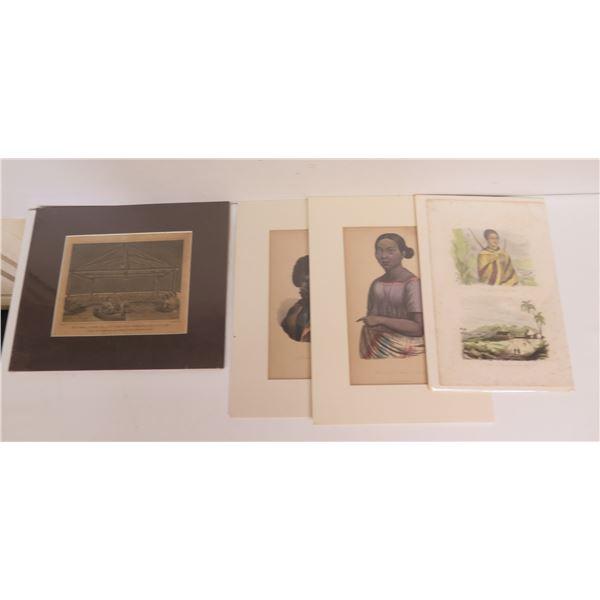 Qty 4 Polynesian Prints