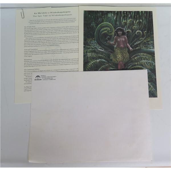 "Letter, ""Ka Mo'olelo o Hi'iakaikapoliopele""Awaiaulu Hawaiian Literature Project"
