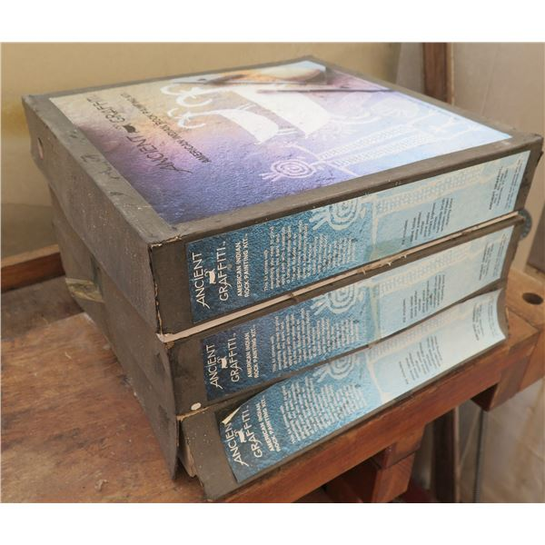 Qty 3 Boxes of Ancient Grafitti American Indian Rock Painting Kits