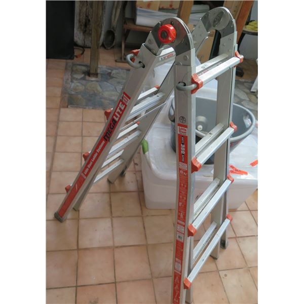 Little Giant Folding Ladder, Extra Heavy Duty Rating Stepladder to Extension 4'-15'