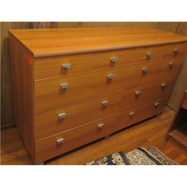 "Wood Dresser w/ 10 Drawers 58.5"" x 19.5"" x 35"" H"