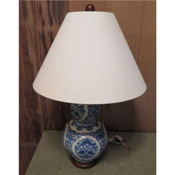 Chinese Porcelain Lamp, Blue/White Ralph Lauren