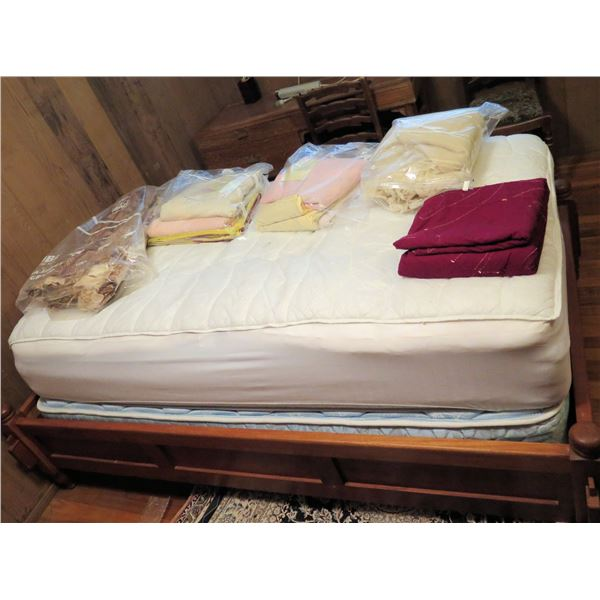 Sealy Bed w/ Wooden Frame (All Items On Bed Not Included)