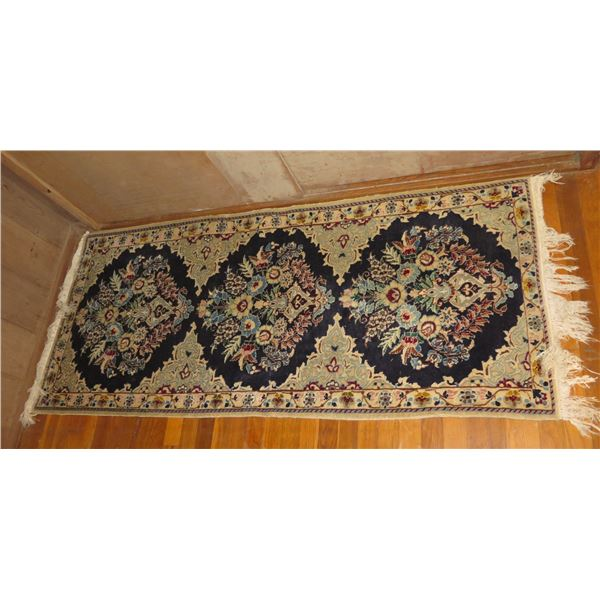 """Persian Runner Rug, Floral Navy/Blue/White/Red 29"""" x 72"""""""