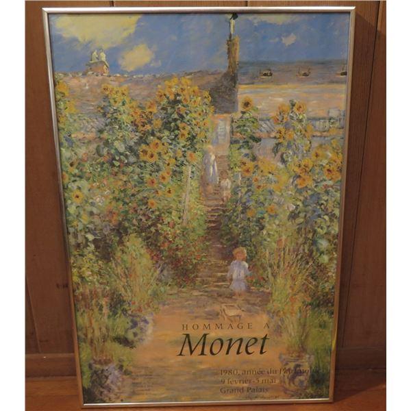 """Framed Art, Poster """"Hommage a Monet"""" 1980 16"""" x 24.5"""""""