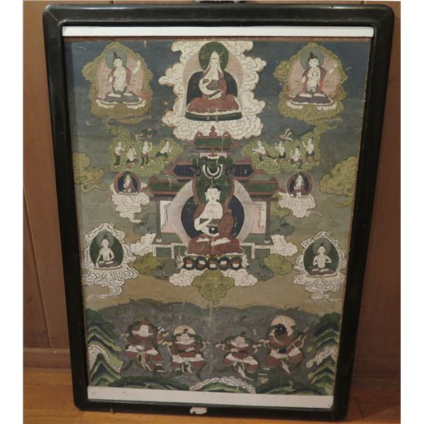 "Framed Art, Print Buddha & Gods 20"" x 27.5"""
