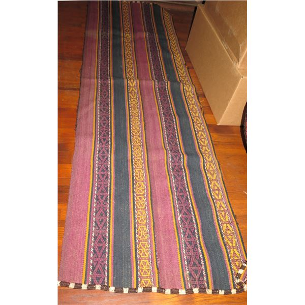 """Rug Runner, Tapestry Blue/Yellow/Red 21"""" x 70"""""""