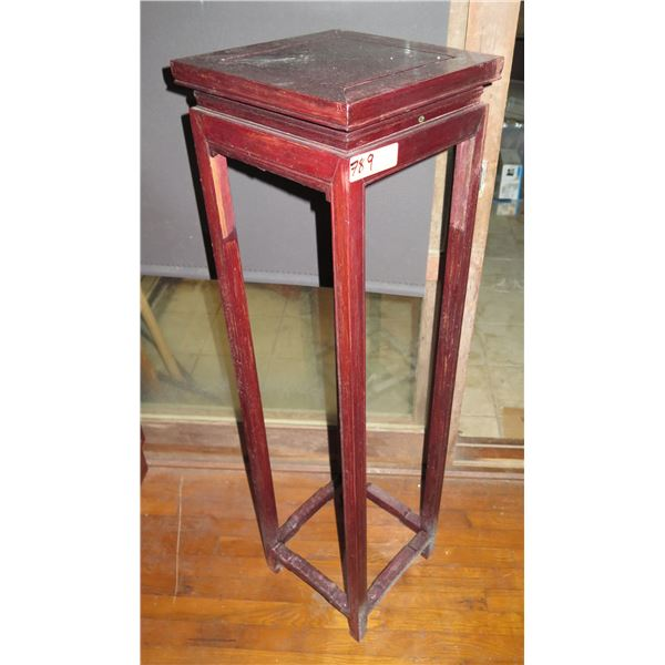 """Wooden Plant Stand, Square 13"""" x  13"""" x 47"""" H"""