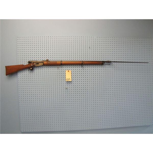41 Swiss Vetterli rifle, bolt action, .41 rimfire, Waffenfabrik Bern, all numbers matching except fo