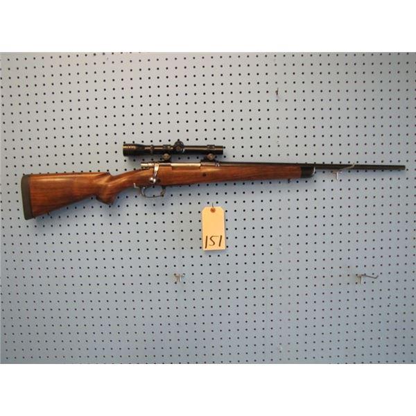 custom build Santa Barbara Mauser action - Douglas Barrel, 338 06 calibre, English Walnut stock Ebon