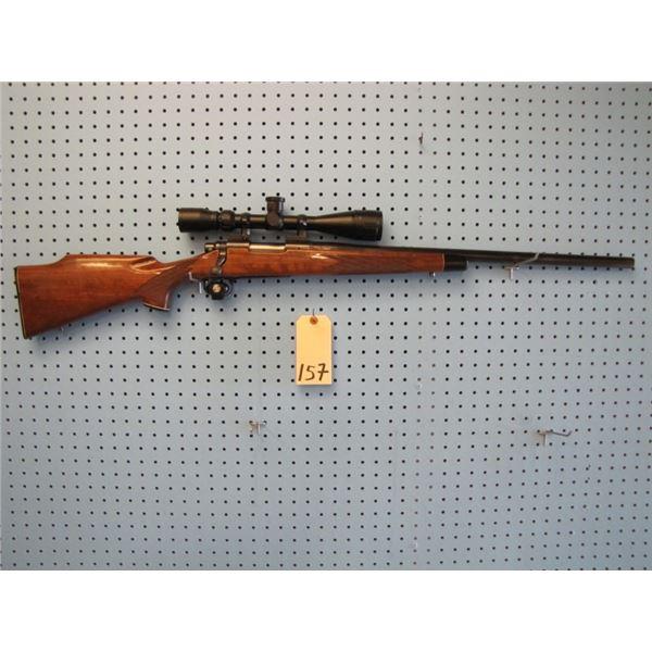 Remington model 700, bolt action, 222 Remington, varmint / bull barrel, cut at 22in and Target crown