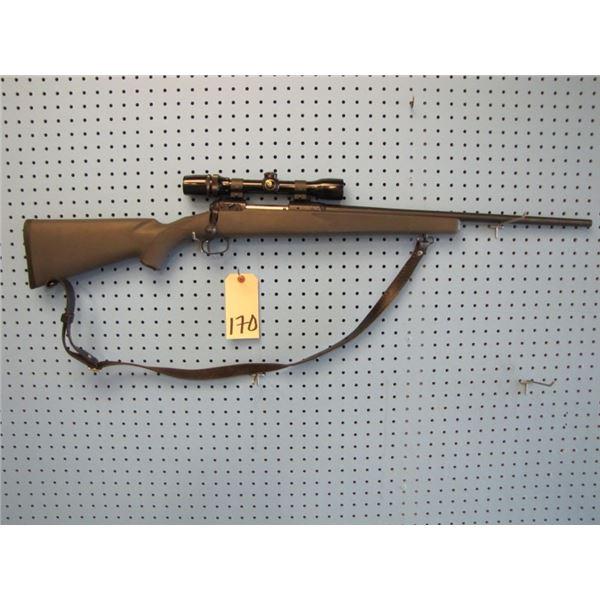 Stevens model 200, bolt action, 243 calibre, Bushnell 2.5 - 8 scope, Weaver rings, synthetic stock,