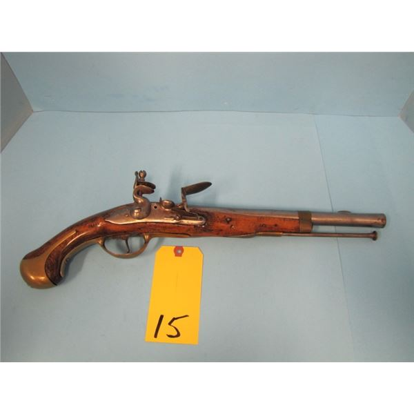 ANTIQUE:  Unknown 60 cal flintlock pistol, barrel 13 inches, dated 1649 ( or this could possibly be