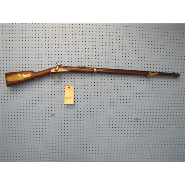 E. Whitney model 1822 Flintlock converted to percussion. Gun probably made in 1856. Has ribbed barre