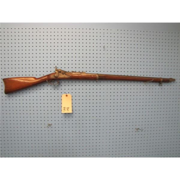 Springfield Model 1868 Trapdoor manufactured in 1869, serial number 16XXX, lock plate dated 1863, bo