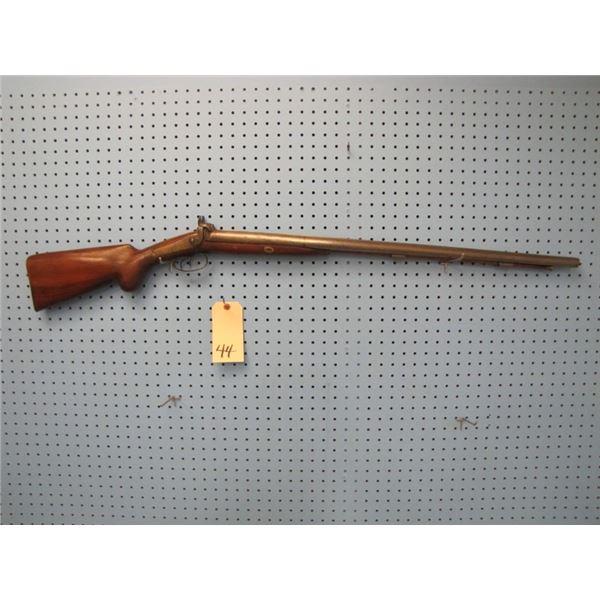 British double barrel cap and ball percussion shotgun, barrel length 31 ¾ inches. Bore 20mm, Birming