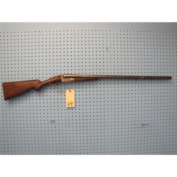 Liege United Arms Co. Ltd side by side hammerless 12 gauge shotgun. Serial number 13652, barrel leng