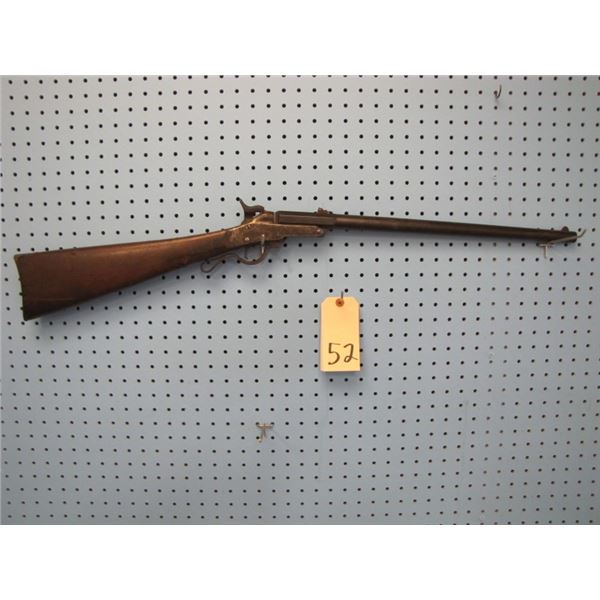 Maynard second model carbine made by Mass Arms Co. Chicopee Falls. Serial number 12p41, 50 caliber,