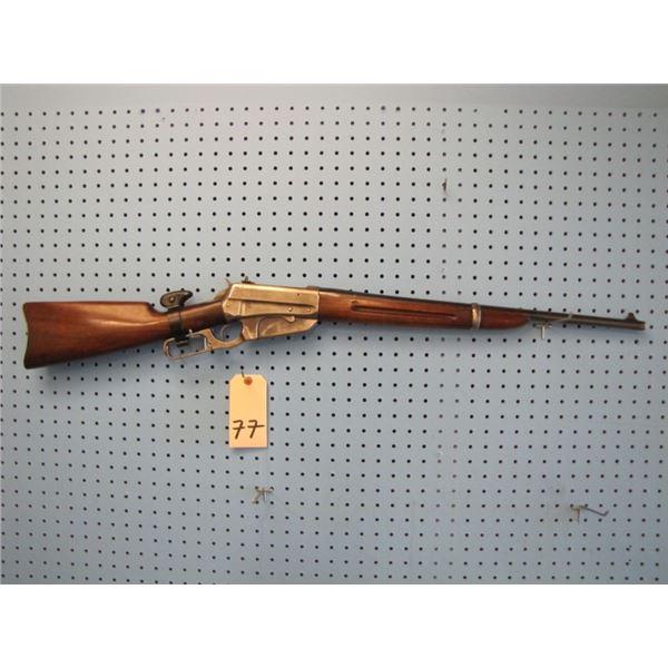 Winchester 1895 carbine, 30 Gov't 06 cal. , serial #418XXX, w original Lyman 21 receiver sight