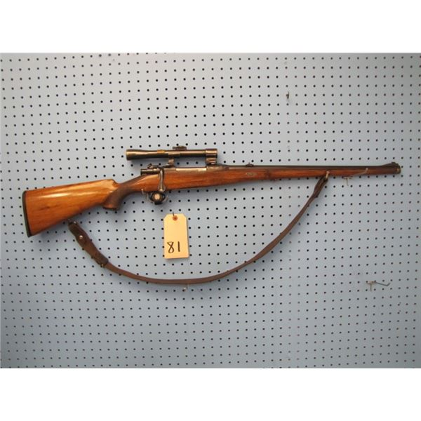 Johann Peterlongo, Innisbruck Austria, Mauser 98 bolt-action carbine, 20 inch octagon to round barre