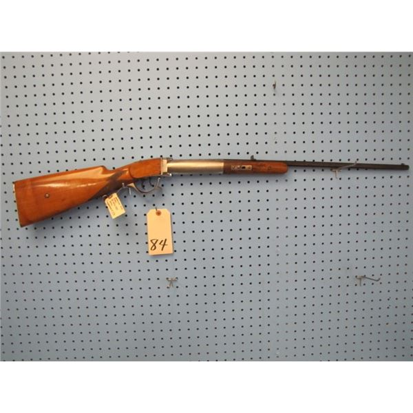 early American air rifle, St Louis type made 1860 - 80, 25 Cal, 20 and a 1/2 inch barrel, double set
