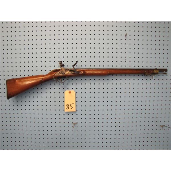 "child's Flintlock miniature musket, lock engraved ""Barbar"", 36 in Long, 22in Barrel, 68 calibre, Wal"