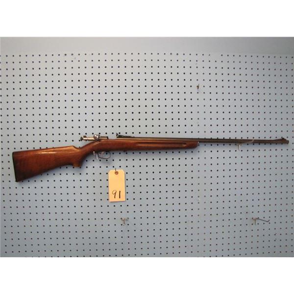Winchester model 68, bolt, single shot,22 s,l,lr., peep sight
