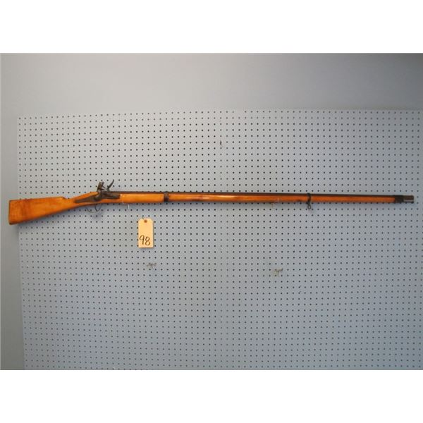 unknown Flintlock barrel length 51 and 1/4 inches approximately 54 calibre