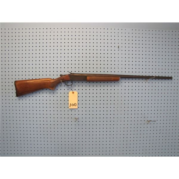 Cooey, 20 gauge single shot, full choke, metal showing rust, stock scratched and dented