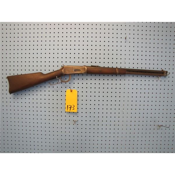 Winchester model 1894, lever action, 30- 30, saddle ring, tagged as a Belgian Congo carbine